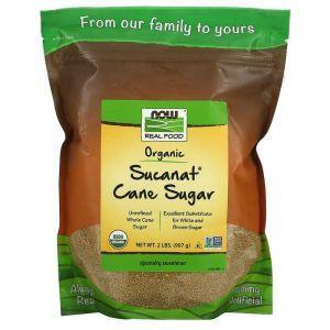 Тростниковый сахар, органик, Cane Sugar, Now Foods, 907 г