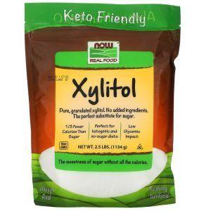 Сахарозаменитель ксилитол, Xylitol, Now Foods, 1134 г