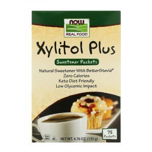 Ксилит сахарозаменитель, плюс, Xylitol Plus, Now Foods, 75 пакетов, 135 г