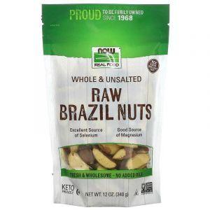 Бразильский орех, Brazil Nuts, Now Foods, Real Food, сырой, цельный, 340 г