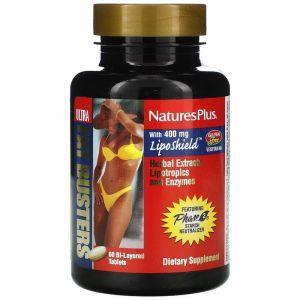 Жиросжигатель, Ultra Fat Busters, Nature's Plus, 60 двухслойных таблеток
