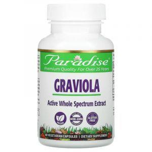 Гравиола, Paradise Herbs, Бразильская, 60 капсул