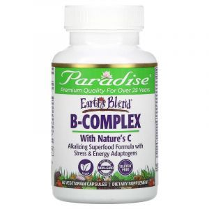 Комплекс с витамином В, B-Complex, Paradise Herbs, 60 кап.