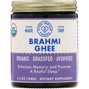 Топленое масло брахми, Brahmi Ghee, Pure Indian Foods, органик, 150 г