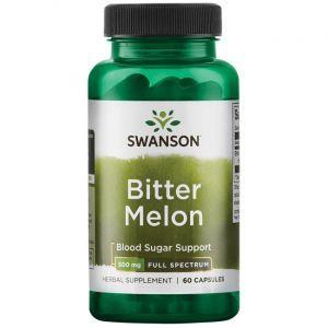 Горькая дыня, Bitter Melon, Swanson, 500 мг, 60 капсул