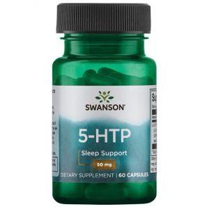 5-НТР (L-5 гидрокситриптофан), 5-HTP, Swanson, 50 мг, 60 капсул