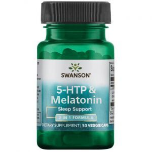 5 НТР + Мелатонин, 5-Htp + Melatonin, Swanson, 30 растительных капсул