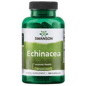 Эхинацея пурпурная, Echinacea, Swanson, 400 мкг, 100 капсул