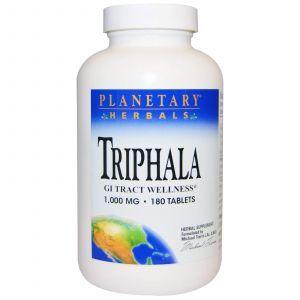 Трифала (Triphala), Planetary Herbals, 1000 мг, 180 таблето