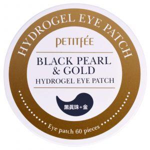 Гидрогелевые патчи для глаз с золотом и черным жемчугом, Eye Patch, Petitfee, 60 пластинок