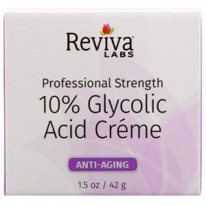 Крем для кожи с 10% гликолевой кислотой, Glycolic Acid Cream, Reviva Labs, 42