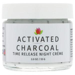 Ночной крем с активированным углем, Time Release Night Creme, Reviva Labs, 55 г