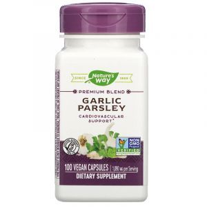 Чеснок и петрушка, Garlic & Parsley, Nature's Way, 100 капсул