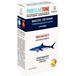 Рыбий жир из печени Гренландской акулы, профилактон, Curtis Health Caps, 500 мг, 60 капсул
