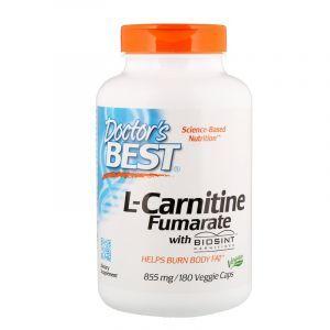 Карнитин Фумарат, L-Carnitine Fumarate, Doctor's Best, 855 мг, 180 кап