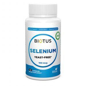 Селен, Selenium, Biotus, без дріжджів, 100 мкг, 100 капсул