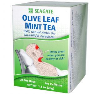 Мятный чай с оливковыми листьями, Olive Leaf Mint Tea, Seagate, 24 чайных пакетика, 36 г