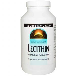 Лецитин, Source Naturals, 1200 мг, 200 капсул