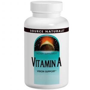 Витамин А (пальмитат), Source Naturals , 100 таб.