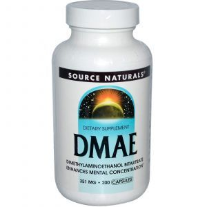 DMAE (Диметиламиноэтанол), Source Naturals, 200 кап.