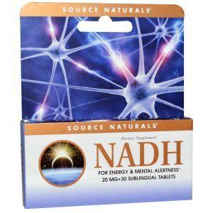 NADH, Source Naturals, 20 мг, 30 таблеток