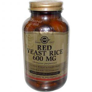 Красный дрожжевой рис, Solgar, 600 мг, 120 капс