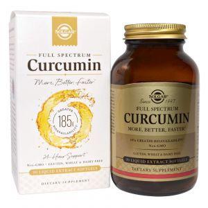 Куркумин, (Full Sprectrum Curcumin), Solgar, 90 мягких гелей (