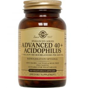 Пробиотики, Advanced 40+ Acidophilus (Dairy Free), Solgar,, 60 капсул (Default)