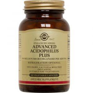 Пробиотики, Advanced Acidophilus, Solgar, 60 капсул (Default)