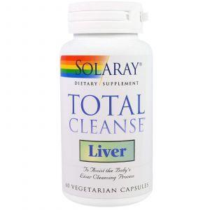 Очистка печени, Total Cleanse, Solaray, 60 капс.