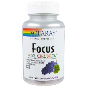 Поддержка развивающегося мозга детей, Focus For Children, Solaray, 60 капс