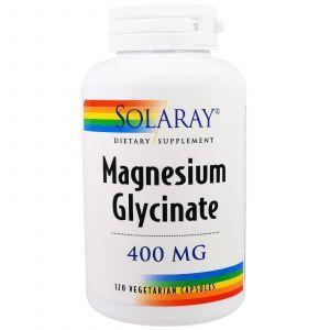 Магний глицинат, Magnesium Glycinate, Solaray, 400 мг, 120 капс.