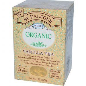Органический цейлонский чай с ванилью, Ceylon Tea, St. Dalfour, 50 г