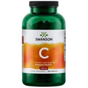 Витамин С с шиповником, Vitamin C, Swanson, 1000 мг, 250 капсул