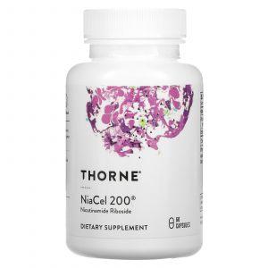 Никотинамид рибозид, NiaCel 200, Thorne Research, 60 капсул