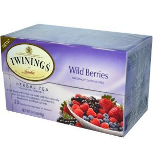 Травяной чай, Herbal Tea, дикие ягоды, Twinings, 20 пакетиков, 40 г