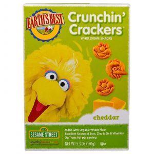 Крекер, Crunchin' Crackers, Earth's Best, вкус сыра чеддар, 150 г