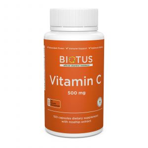 Витамин С, Vitamin C, Biotus, 500 мг, 100 капсул