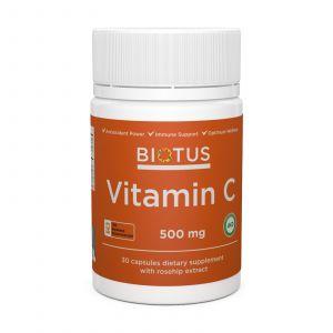 Вітамін С, Vitamin C, Biotus, 500 мг, 30 капсул