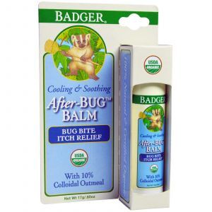 Бальзам после укусов насекомых, After-Bug Balm, Badger Company, 17 г