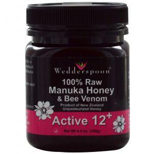 Манука мед и пчелиный яд, Wedderspoon Organic, Inc., 250 г