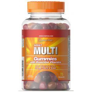 Мультивитамины для взрослых, AdultMultivitaminGummy, Puritan's Pride, 75 жевательных таблеток