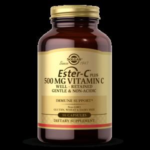 Витамин С эстер плюс, Ester-C Plus Vitamin C, Solgar, 500 мг, 90 капсул