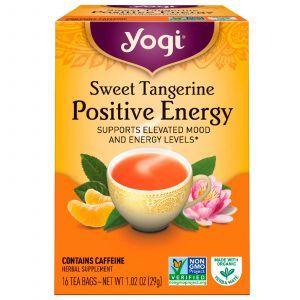 Чай со вкусом мандарина, Positive Energy, Sweet Tangerine, Yogi Tea,16 пакетиков, 29 г