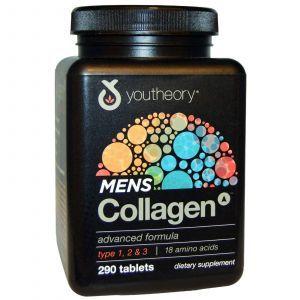 Коллаген мужской (формула), Youtheory, 290 таблеток
