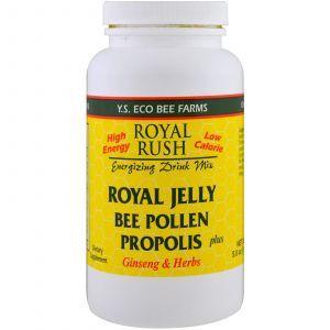 Смесь для приготовления энергетических напитков, Royal Rush Energizing Drink Mix, Y.S. Eco Bee Farms, 143 г