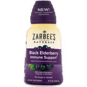Поддержка иммунитета с бузиной, Black Elderberry Immune Support, Zarbee's, 236 мл