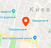 Карта с проездом к магазину